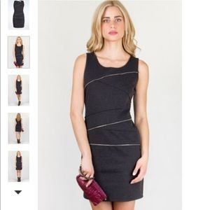 MICHAEL Michael Kors charcoal zipper body on dress